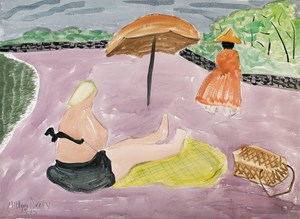 Lavender Beach by Milton Avery at Christie's American Sale