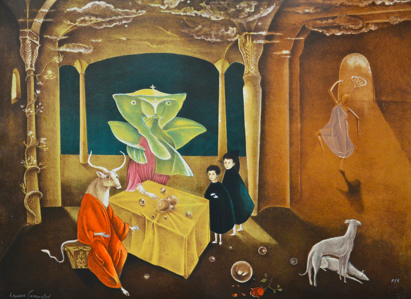 Leonora Carrington  - And then we saw the daughter of the minotaur, 2011 (Lithograph on handmade paper)