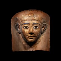 An Egyptian Cartonnage Mummy Mask at Hindman Auctions