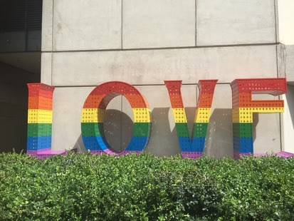 """Rainbow LOVE"" by Laura Kimpton joins Grand Hyatt San Francisco impressive collection of locally commissioned art"