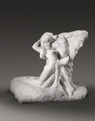Rodin's Celebrated Marble of Embracing Lovers L'ÉTERNEL PRINTEMPS