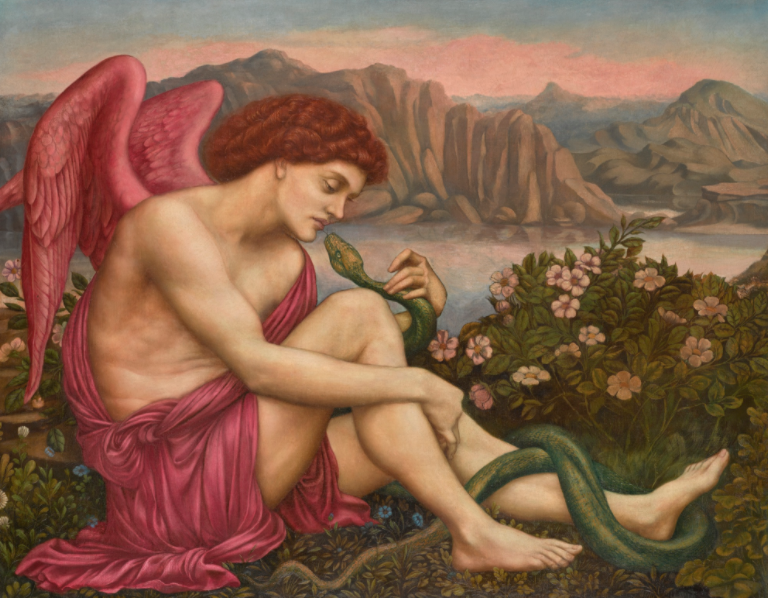 Evelyn de Morgan's THE ANGEL WITH THE SERPENT