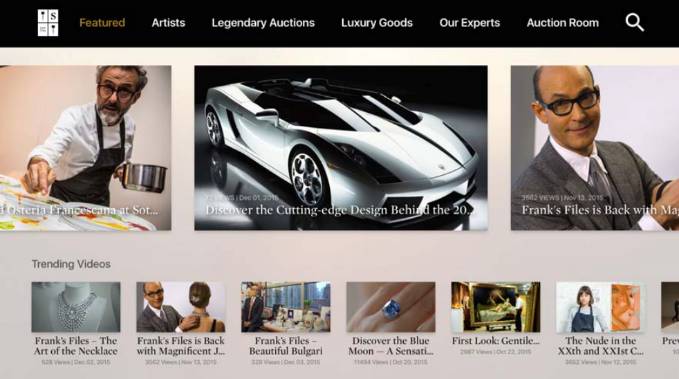 SOTHEBY'S on Apple TV