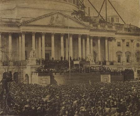 Photograph of 'The First Inaugural of Abraham Lincoln, 4 March 1861'
