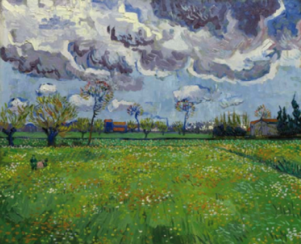 A Stunning Landscape by Van Gogh from 1889