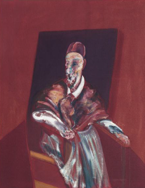 FRANCIS BACON Seated Figure (Red Cardinal)