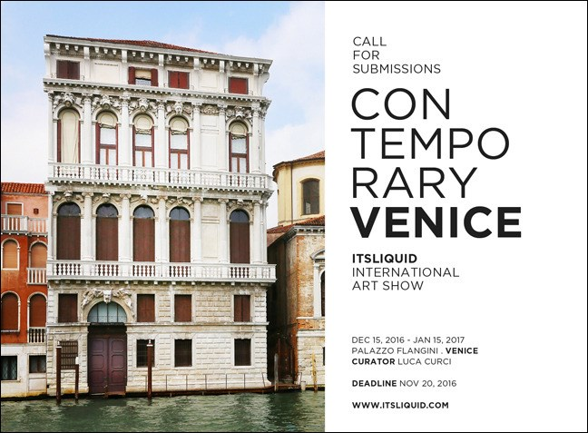 Contemporary Venice 2016: call for submissions