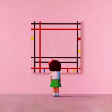 Liu Ye (b. 1964). Boogie Woogie, little girl in New York