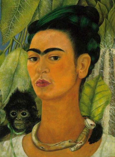 Symbolism in Art: Frida Kahlo – Self Portrait with Monkey