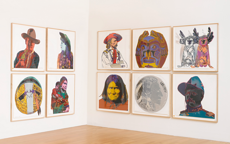 Andy Warhol COWBOYS AND INDIANS (FELDMAN & SCHELLMANN II.377-386)