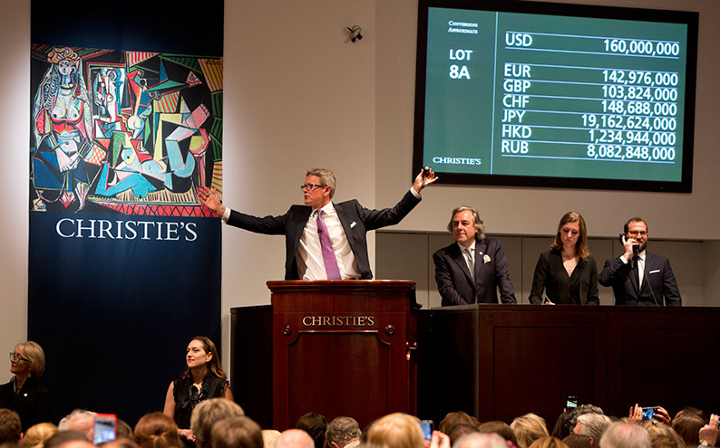 New record for most valuable work of art ever sold at auction