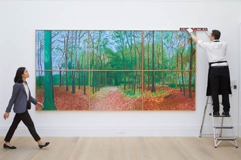 Sotheby's to offer monumental David Hockney masterpiece