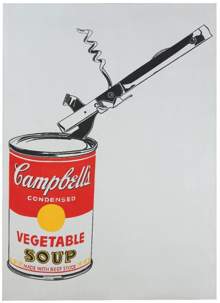 Andy Warhol's Soup Can with Can Opener (Vegetable) to star New York's upcoming Auctions