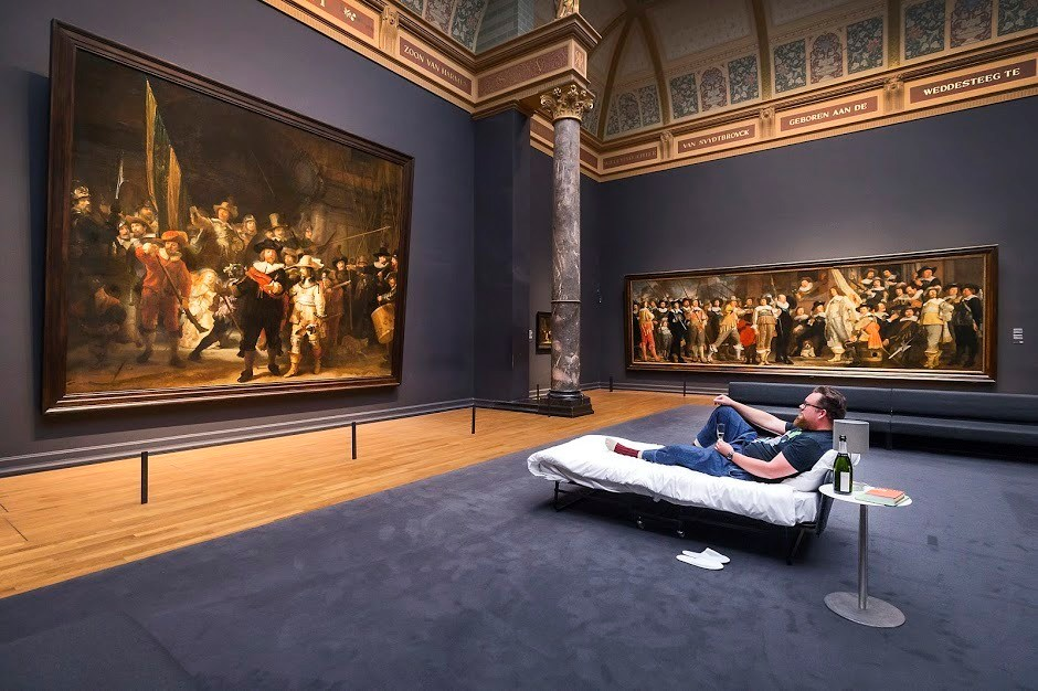 Rijksmuseum's 10-millionth visitor spends the night beneath The Night Watch