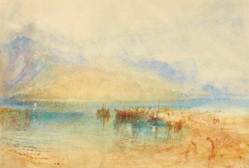 Joseph Mallord William Turner, R.A. and his SWITZERLAND: POSSIBLY LAKE THUN