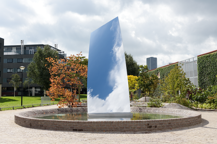 Sky Mirror (for Hendrik) is a gift from Kapoor commemorating De Pont's twenty-fifth anniversary