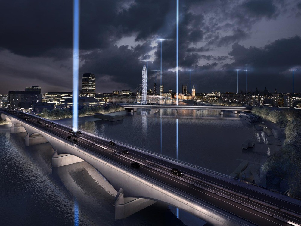 Creative proposals unveiled for lighting London's Bridges
