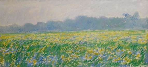 Claude Monet's Champ d'iris à Giverny on auction in November