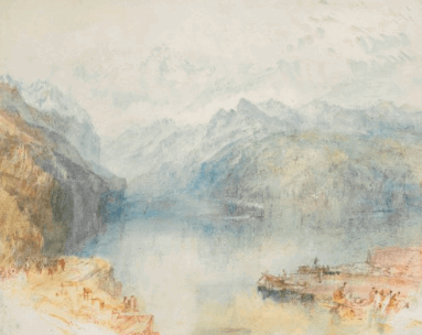 The Lake of Lucerne from Brunnen, with a Steamer by Turner
