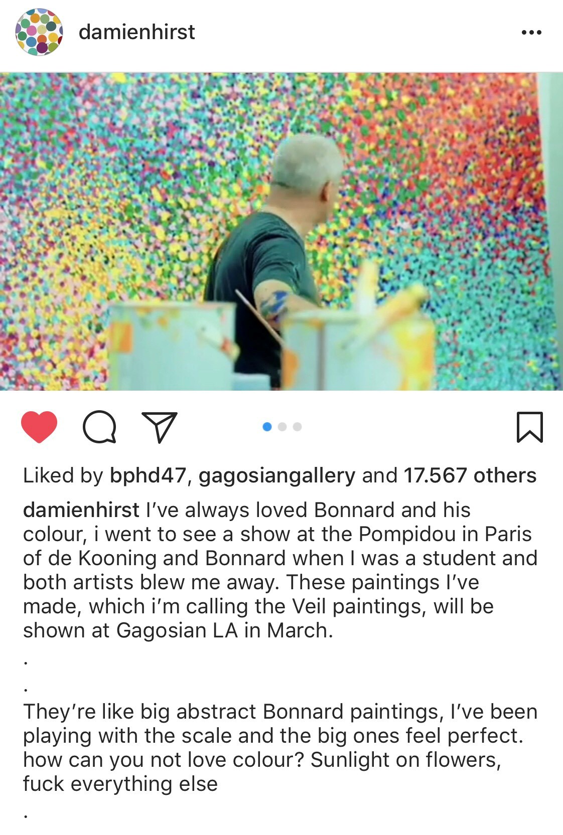 Damien Hirst Opening Up on Instagram