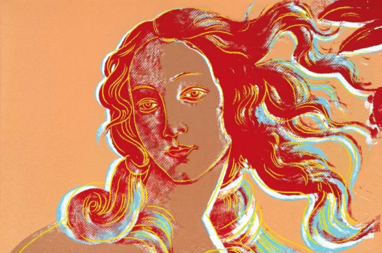 Andy Warhol, Birth of Venus (After Botticelli)
