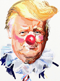 American Artist Eric Fischl Will Be Giving Away Free Posters Depicting President Trump As a Clown