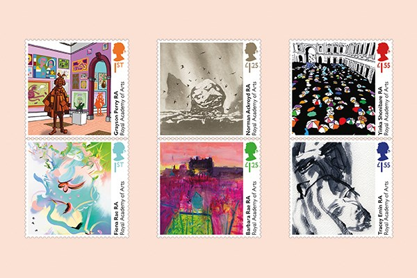 Royal Mail Celebrates the Milestone 250th Anniversary of the Royal Academy of Arts with Special Stamps
