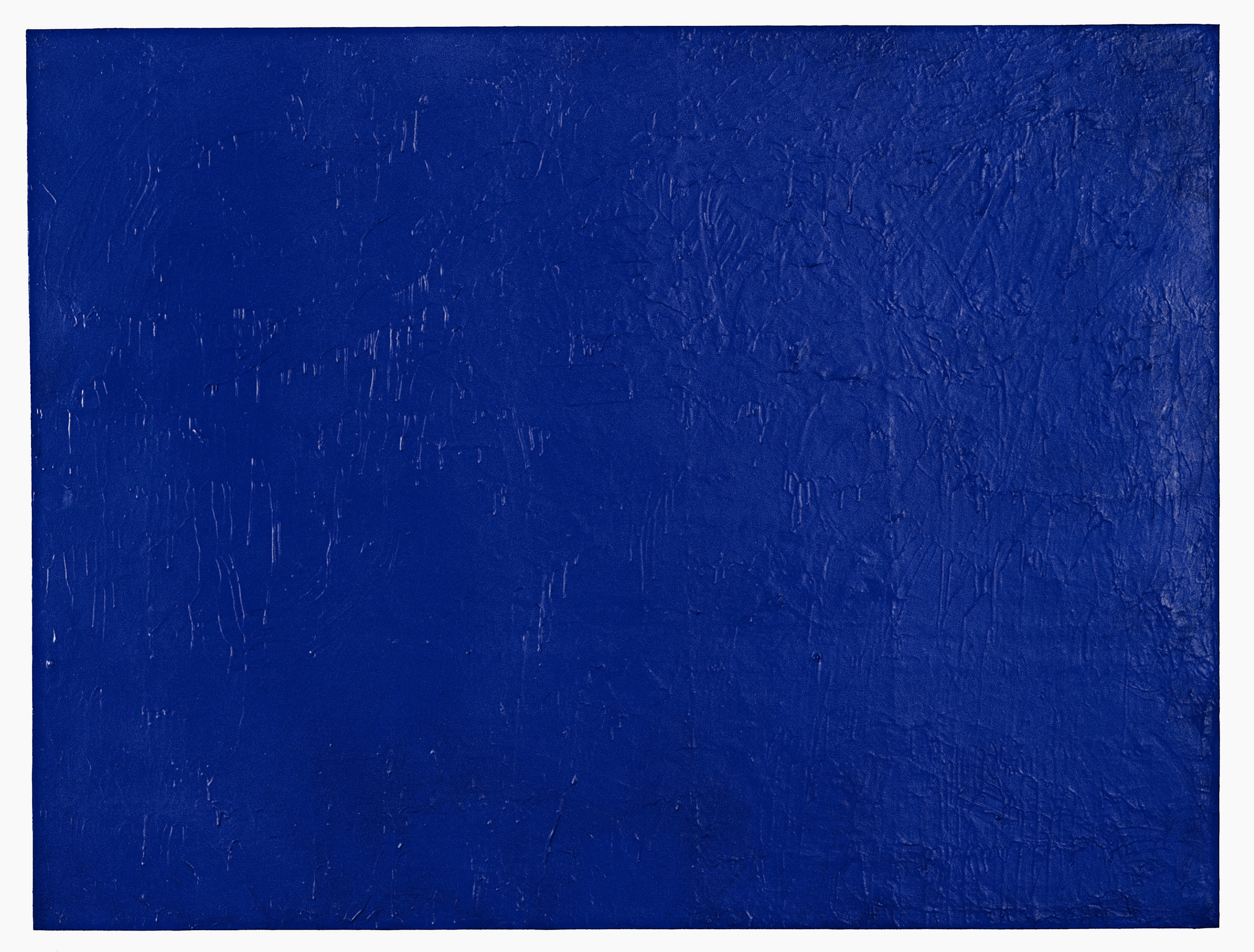 Yves Klein, IKB Godet, 1958, dry pigment, synthetic resin on gauze on panel. Private collection. ©Artists Rights Society (ARS), New York/ADAGP, Paris.