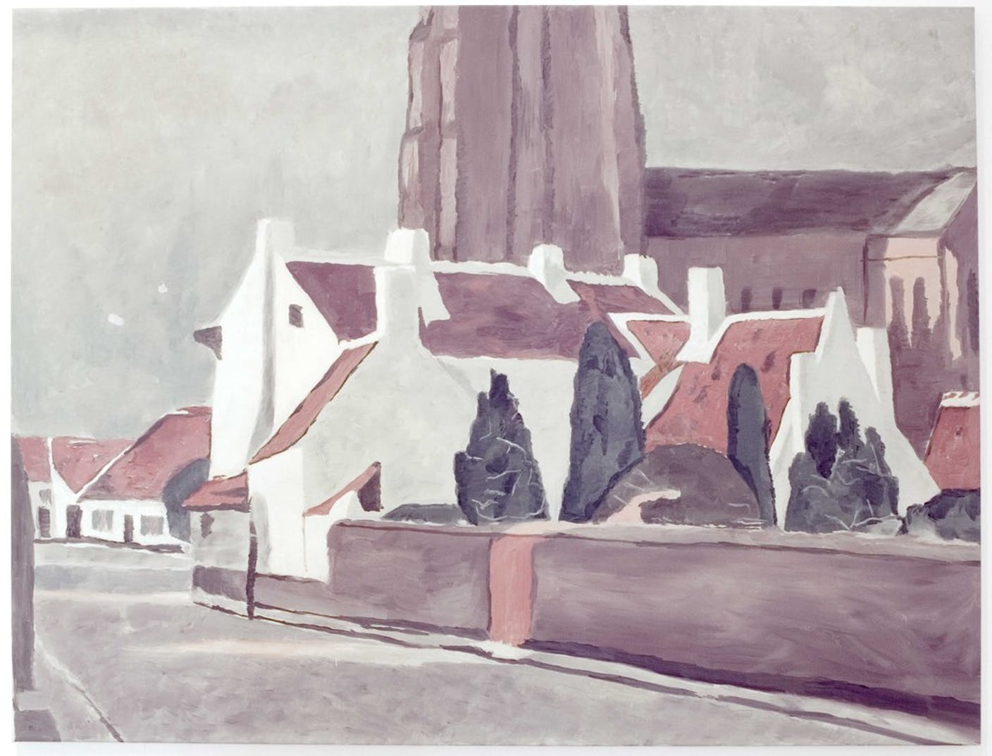 Luc Tuymans, Flemish Village 1995.  Collection MuHKA, Antwerp