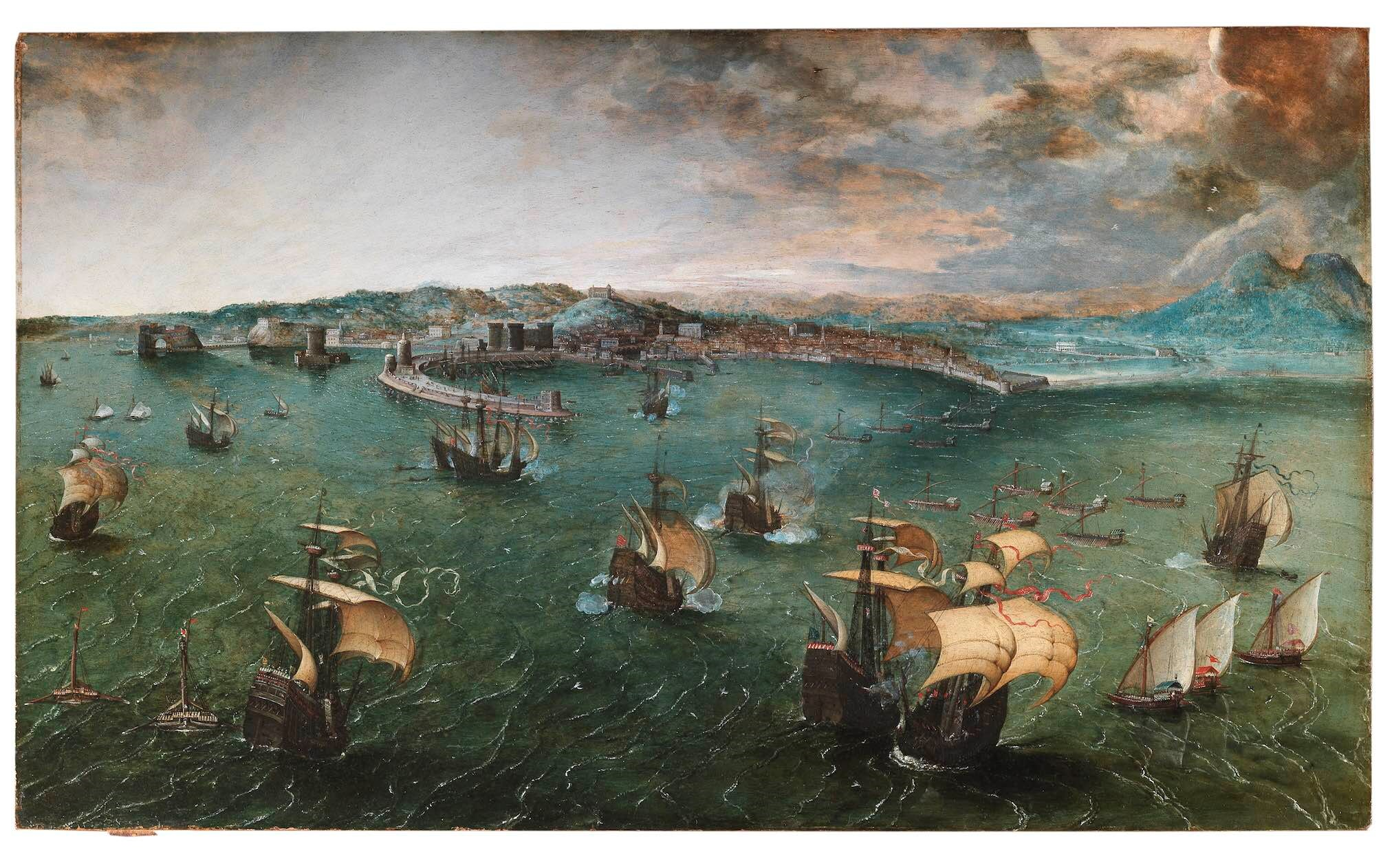Naval Battle in the Gulf of Naples attributed to Pieter Bruegel the Elder