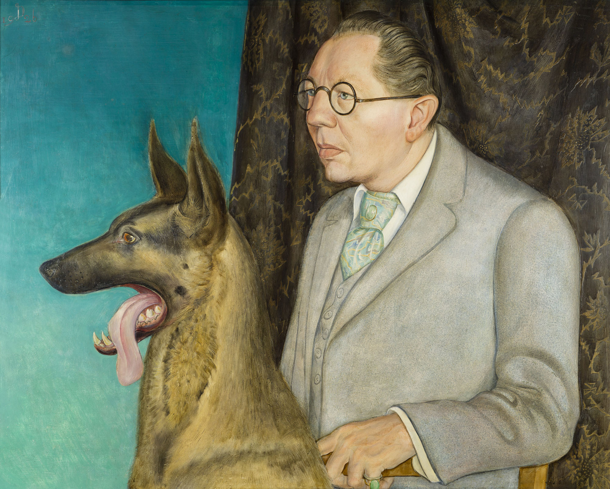 Otto Dix (1891-1969) 'Hugo Erfurth with Dog' 1926