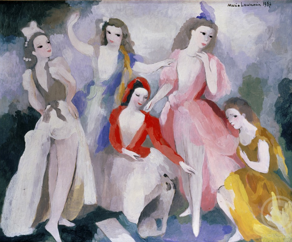 Danseuses 1937, Marie Laurencin (1883-1956 French), oil on canvas, London