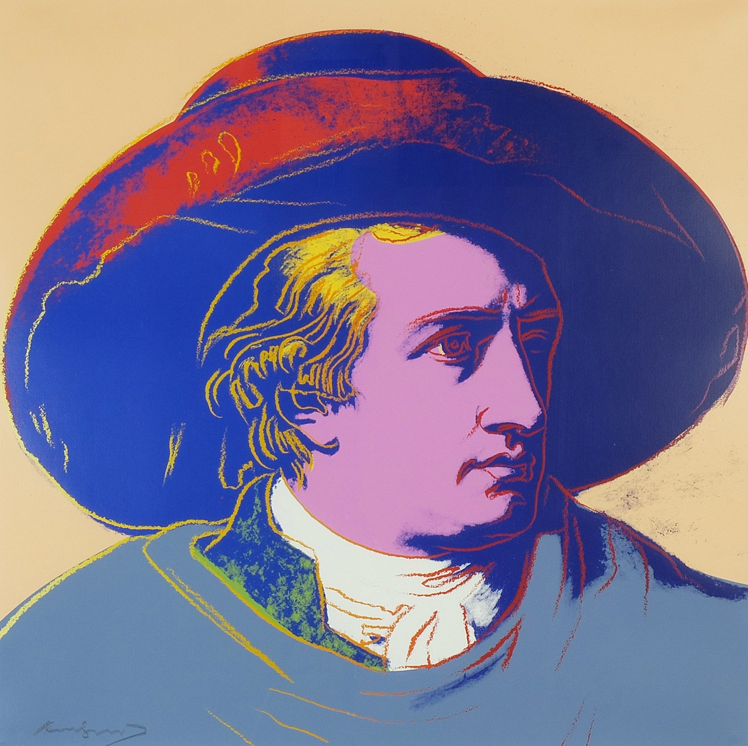 Goethe by  Andy Warhol at Rusterholtz Galerie + Auktionen