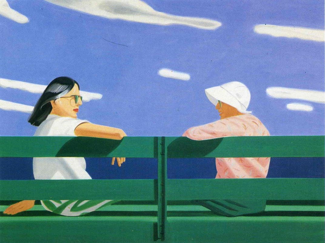 Ada and Louise  by A.Katz at Christie's Post-War and Contemporary Sale