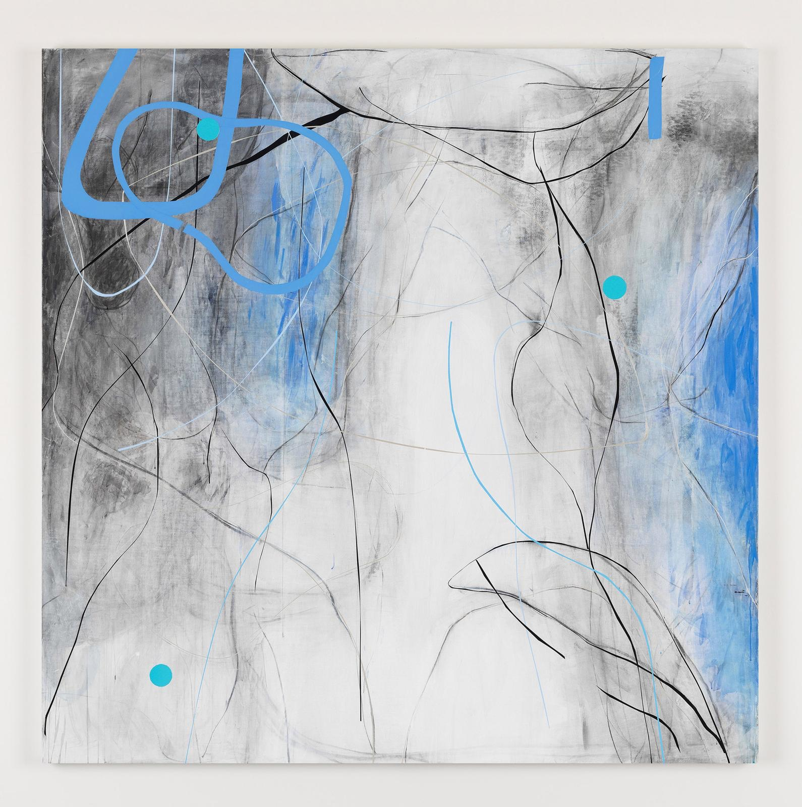 Zhou Li, Blue – No.2, 2018, mixed media on canvas