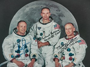 Apollo 11 Crew Signed WSS Lithograph at Sotheby's Space Exploration