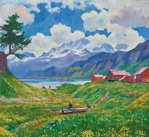 Spring Landscape by Giovanni Giacometti Leads the Swiss Art at Christie's