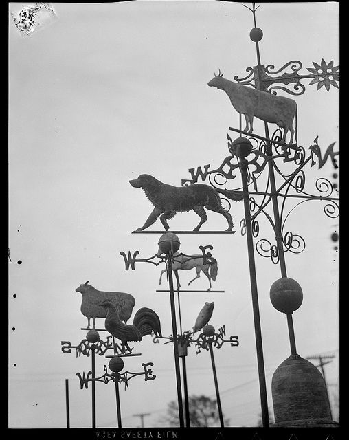 Leslie Jones - Weathervanes, courtesy to Boston Public Library, Leslie Jones Collection