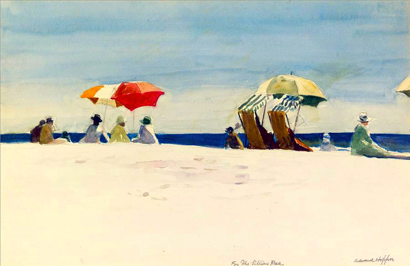 """Gloucester Beach, Bass Rocks"" by Edward Hopper"